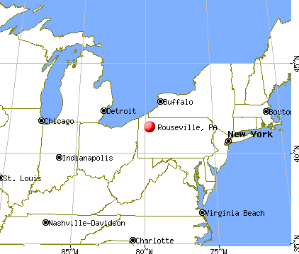 Rouseville, Pennsylvania map