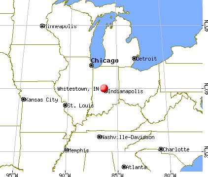 Whitestown, Indiana map