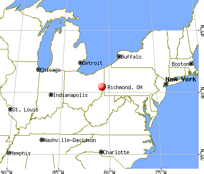 Richmond, Ohio map