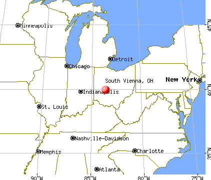 South Vienna, Ohio map