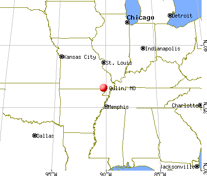 Qulin, Missouri map