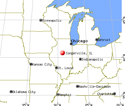 Congerville, Illinois map