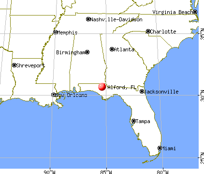 Alford, Florida map