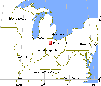 Rawson, Ohio map