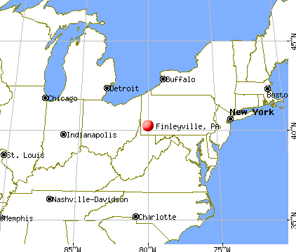 Finleyville, Pennsylvania map
