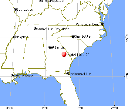 Midville, Georgia map