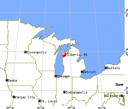 Elberta, Michigan map