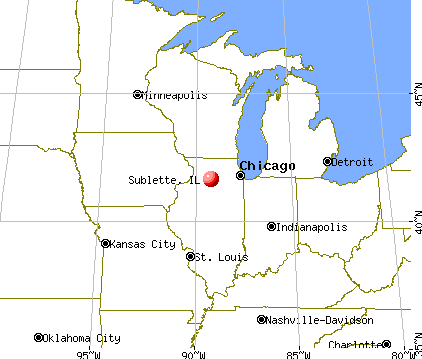 Sublette, Illinois map