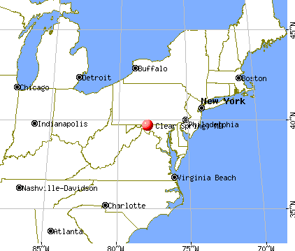 Clear Spring, Maryland map