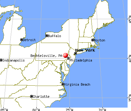 Bechtelsville, Pennsylvania map