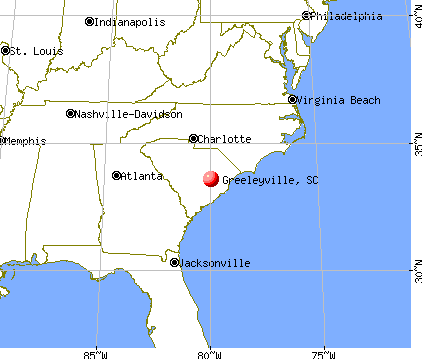 Greeleyville, South Carolina map