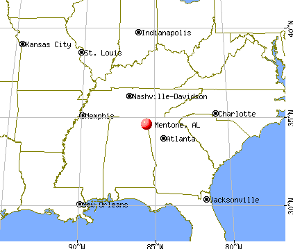 Mentone, Alabama map