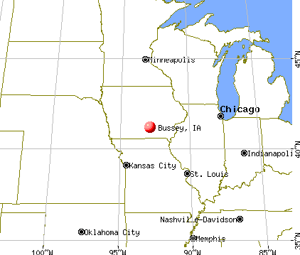 Bussey, Iowa map