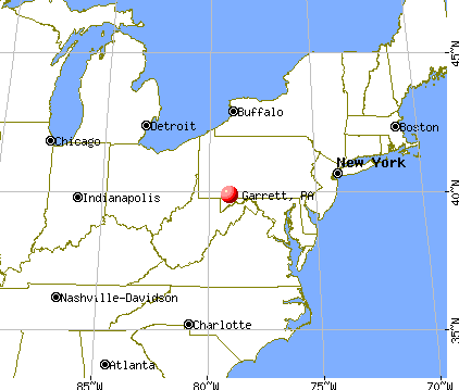 Garrett, Pennsylvania map