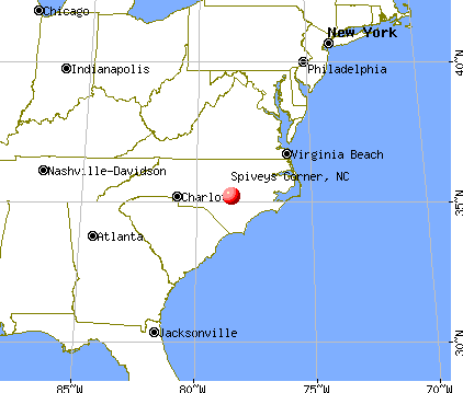 Spiveys Corner, North Carolina map