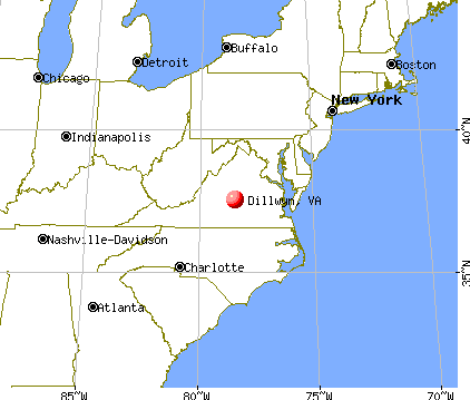 Dillwyn, Virginia map