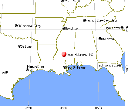 New Hebron, Mississippi map