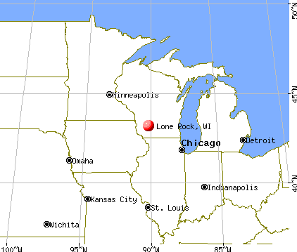 Lone Rock, Wisconsin map