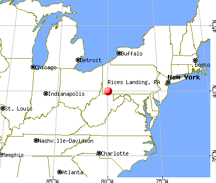 Rices Landing, Pennsylvania map