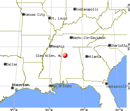 Glen Allen, Alabama map