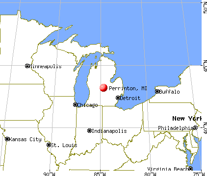 Perrinton, Michigan map