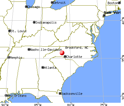 Brookford, North Carolina map