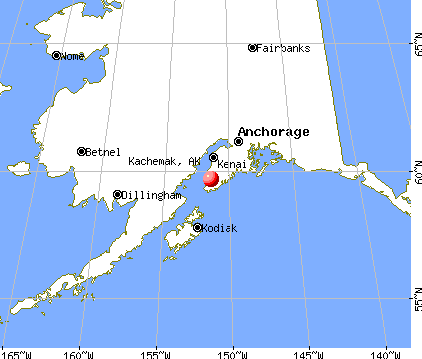 Kachemak, Alaska map