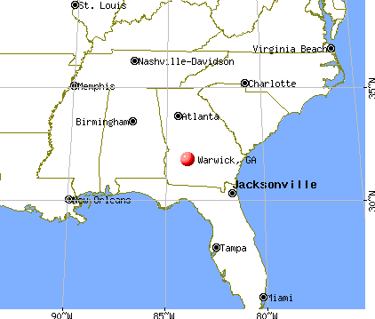 Warwick, Georgia map