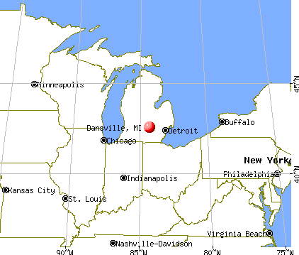 Dansville, Michigan map