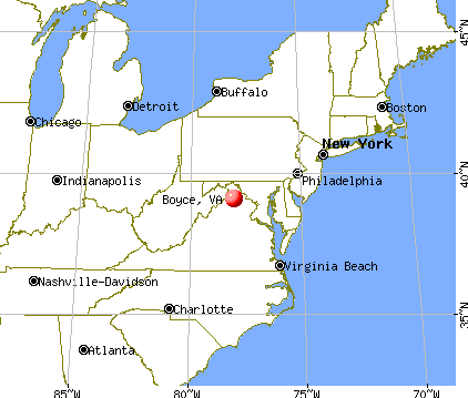 Boyce, Virginia map