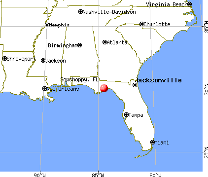 Sopchoppy, Florida map