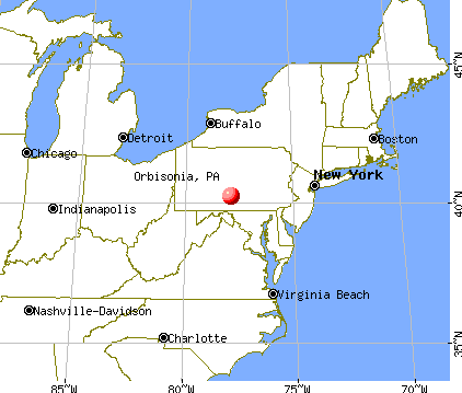 Orbisonia, Pennsylvania map