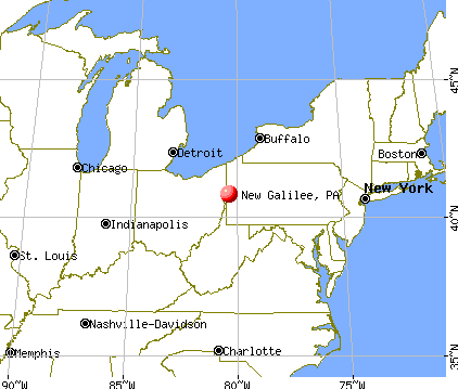 New Galilee, Pennsylvania map