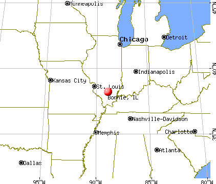 Bonnie, Illinois map