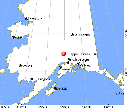 Trapper Creek, Alaska map