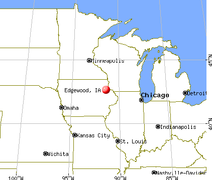 Edgewood, Iowa map