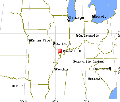 Makanda, Illinois map