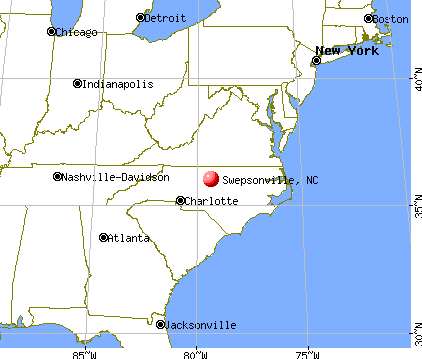 Swepsonville, North Carolina map