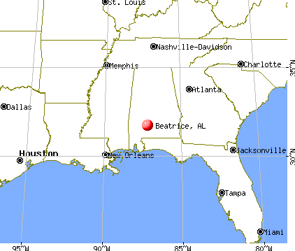 Beatrice, Alabama map