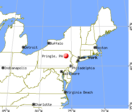 Pringle, Pennsylvania map