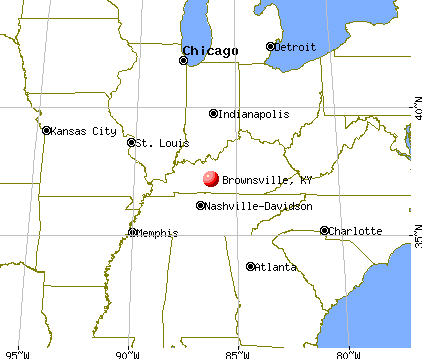 Brownsville, Kentucky map