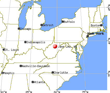 Jane Lew, West Virginia map