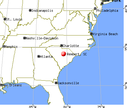 Rembert, South Carolina map