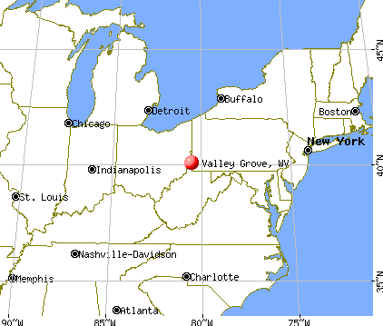 Valley Grove, West Virginia map