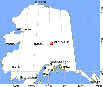 Nenana, Alaska map