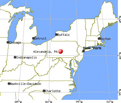Alexandria, Pennsylvania map