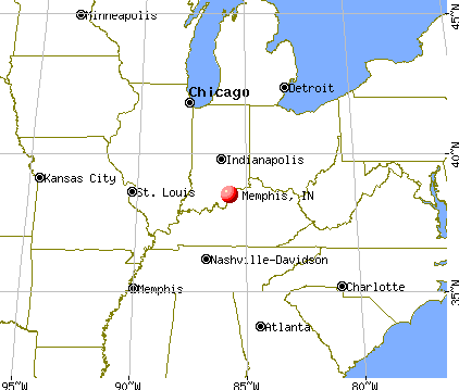Memphis, Indiana map