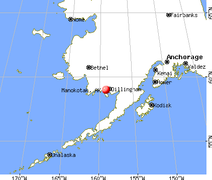 Manokotak, Alaska map