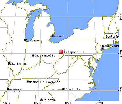 Freeport, Ohio map