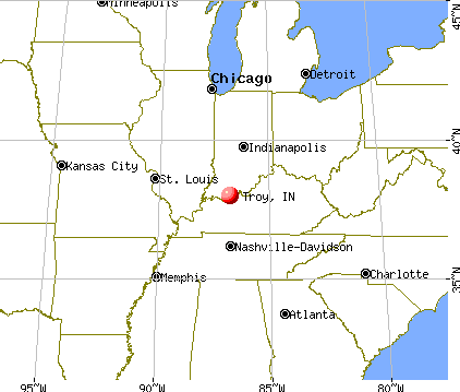 Troy, Indiana map